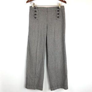 New Directions High Waisted Chambray Sailor Pants